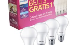 Cahaya Putih Lampu Philips 12 Watt yang Menghangatkan Ruangan