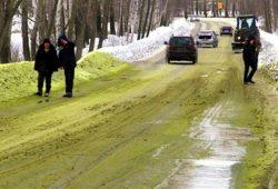 Fenomena Unik, Salju Bewarna Hijau Muncul di Kota ini
