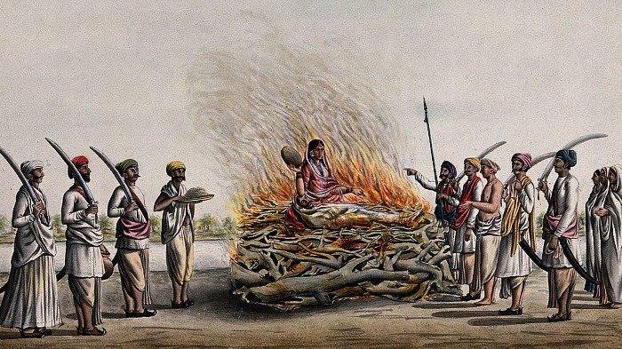 tradisi pemakaman unik sati